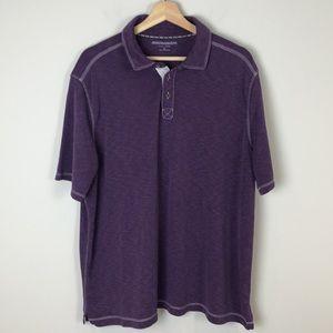 Johnston & Murphy Purple Vintage Slub Polo - XL